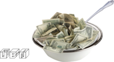 money in cereal bowl PSD