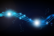 blue glowing fibers and stars PSD