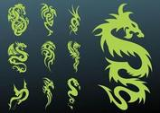 Dragons Tattoo Set