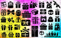 36 Vector gift & present boxes
