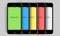 Новый iPhone 5C PSD макет