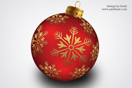 Christmas hanging ball PSD