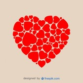 Heart Shape Made of Hearts