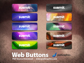 Colorful grunge buttons set (PSD)