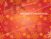 Noël rouge Vector Background with Snowflakes et lignes fluides