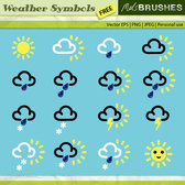 Free Vector Weather Symbols