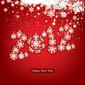 New Year & Xmas Ornamental Background