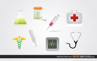 8 Medical Vector Icons Set