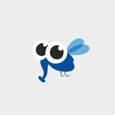 BLUE INSECT VECTOR GRAPHICS.eps
