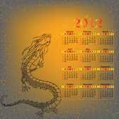 2012 Year of the Dragon Calendar template 01