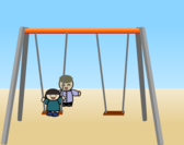Child on a swing