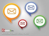 Sweet Colorful Email Cloud Icon Set PSD