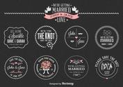 Free Chalk Save The Date Labels