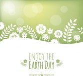 Earth day vector landscape