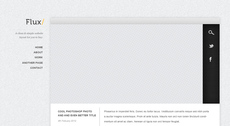 Flux - Minimal Blog Design PSD Template