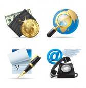 Classy Business World Vector Icons Set