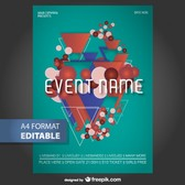 Geometric editable poster template