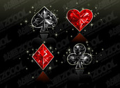 Diamond Texture Of Poker Vector Graphics Material