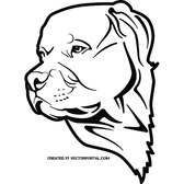 PIT BULL DOG FREE VECTOR.eps