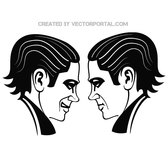 FACE TO FACE VECTOR ILLUSTRATION.eps