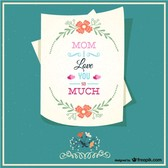 Happy mother's letter card