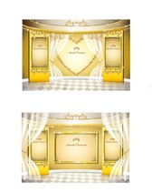 Gold pattern vector material arena