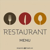 Flat vector free food concept layout
