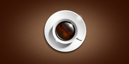 Coffee cup icon (PSD)
