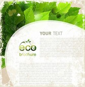Green Leaves Eco Grunge Background