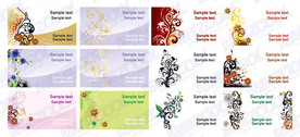 12 Exquisite Patterns V2 Theme Of The Card Template Vector M