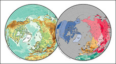 Vector map of the world exquisite material - spherical map o