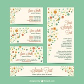 Corporate identity set flowers design