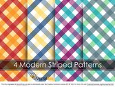 Modern Striped Vector Pattern
