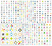 N number of logo graphic template