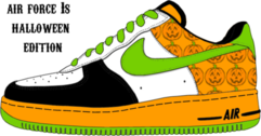 air force ones halloween edition PSD