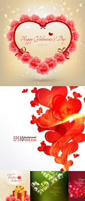 Beautiful Valentine's Day Vector Material Valentine's Day Heart-shaped Rose