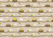Free Bird in Nest Pattern