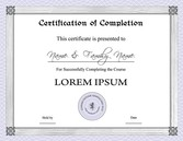 Three Certificate Design