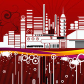 URBAN CITY fond rouge VECTOR.eps