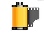 Old film roll icon (PSD)