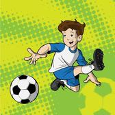 KID PLAYING SOCCER VECTOR.eps