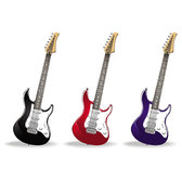 SET OF GUITARS VECTOR FORMAT.eps