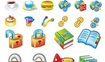 Books food icon lock link