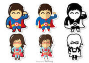 Superhero Kid Vectors Pack