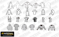 Go Media Vector material Set13-Chupin trend of blank apparel
