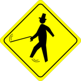Jaunty Pedestrian (Caution)