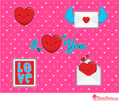 Gratis Valentine Vector Graphics Kawaii estilo
