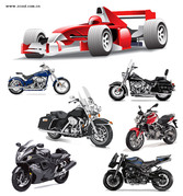Motorcycle Racing Car