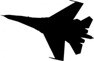 Airplane Fighter Silhouette
