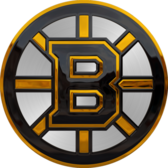 Metallic Boston Bruins Logo PSD